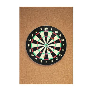 "Cork Dart Board Backer 36"" x 24"" x 1/2"""
