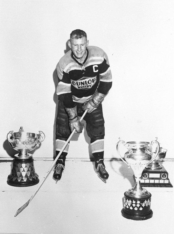 Eddie Redmond - Whitby Dunlops Captain - 1957 | HockeyGods