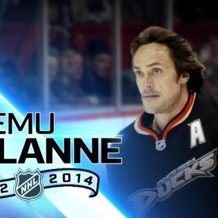 Selanne-Top-100 Teemu Selanne Anaheim Ducks Colorado Avalanche San Jose Sharks Teemu Selanne Winnipeg Jets