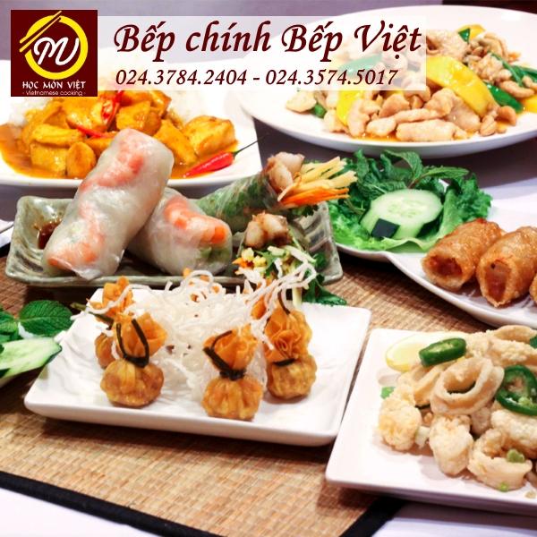 Khóa học bếp chính bếp Việt thương hiệu Học Món Việt