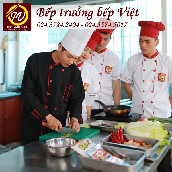 Khóa học bếp trưởng Bếp Việt thương hiệu Học Món Việt