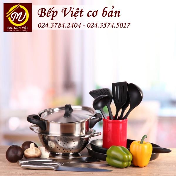 Khóa học bếp Việt cơ bản thương hiệu Học Món Việt