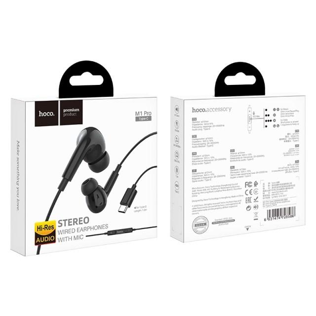 hoco m1 pro original series earphones for type c package black