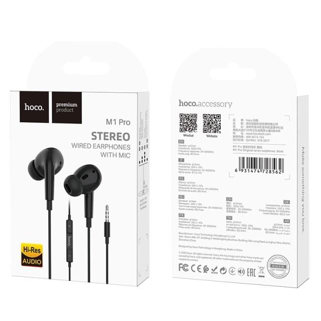 hoco m1 pro original series earphones package black