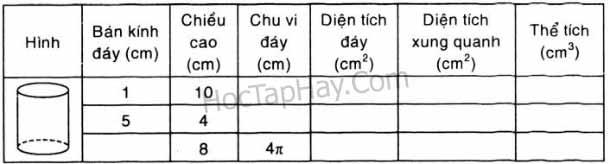 Bài Tập 5 Trang 111 SGK Hình Học Lớp 9 - Tập 2