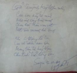 Bút tích của Chưởng môn