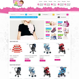 Giao diện WooCommerce Dung Baby