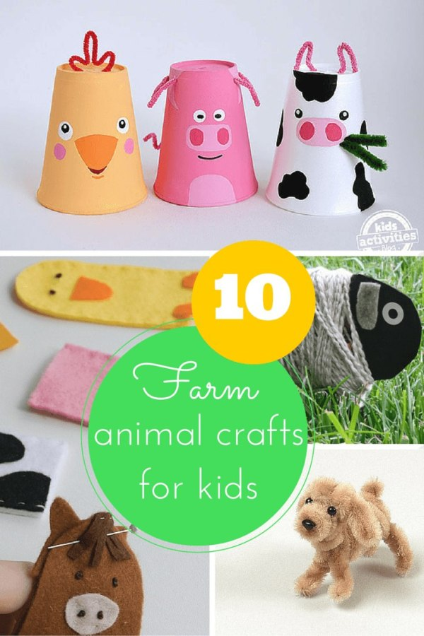 10 Fun Farm Animal Crafts For Kids