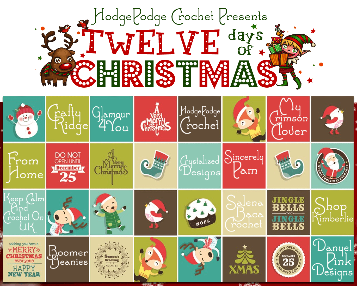 HodgePodge Crochet Celebrates 12 Days of Christmas!