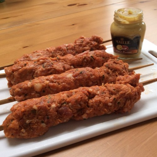 Recipe: Pork & Chorizo Kebabs with Harissa