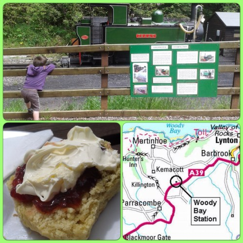 North Devon: Cream Tea & Steam Trains at Woody Bay Station