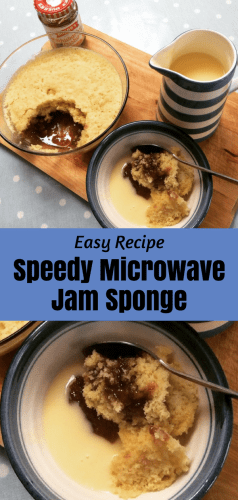 Easy Recipe: Speedy Microwave Jam Sponge