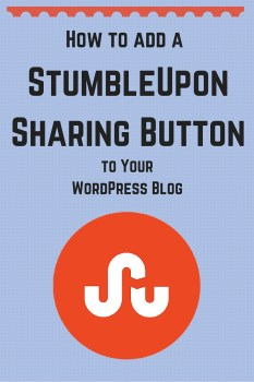 How to add a StumbleUpon Sharing Button to your WordPress blog