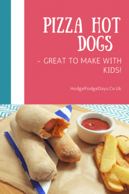 Recipe: Pizza Hot Dogs - great to make with kids!