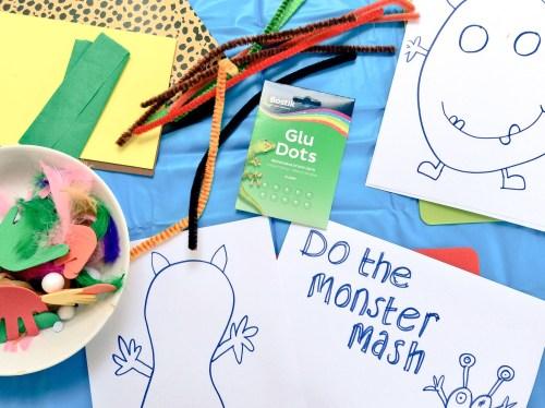 Crafts: Easy Halloween Monster crafts for kids