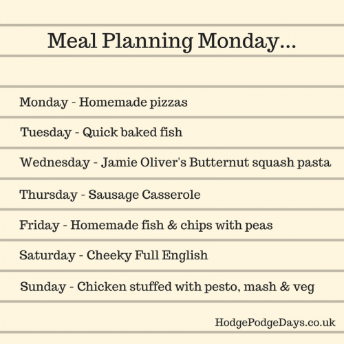 Meal Planning Monday: Shaking off the January Blues