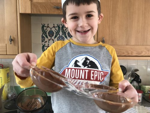Easter Treats - Make and Melt Chocolate Egg Heads