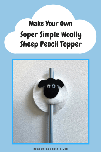 Kids Craft: Super Simple Woolly Sheep Pencil Topper