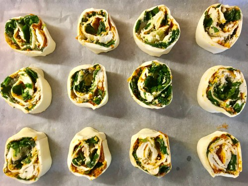 Recipe: Spinach, Pesto and Mozzerella Pinwheels