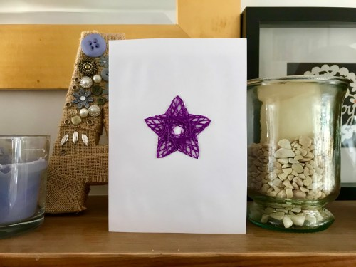 Crafts: Make Your Own String Art Greeting Cards