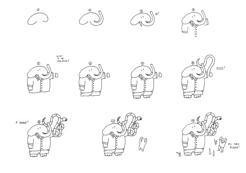 How to draw Elephants on Tour Guillaume Cornet