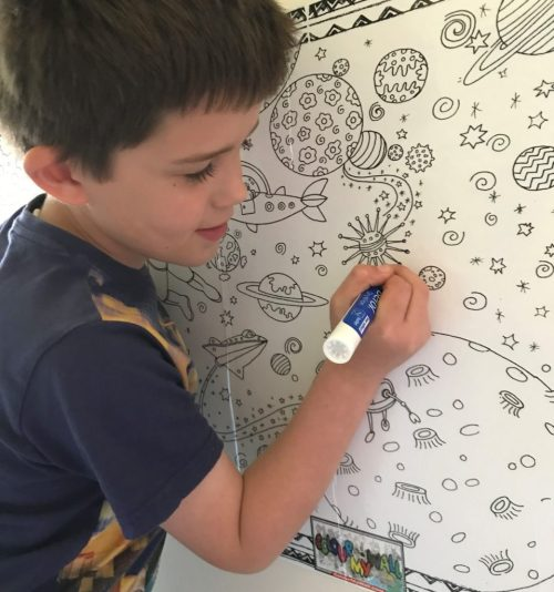 Colour My Wall - wipe-clean vinyl posters to colour in