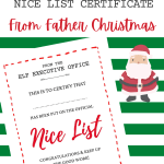 Free Printable Nice List Certificate Template Hodgepodgedays