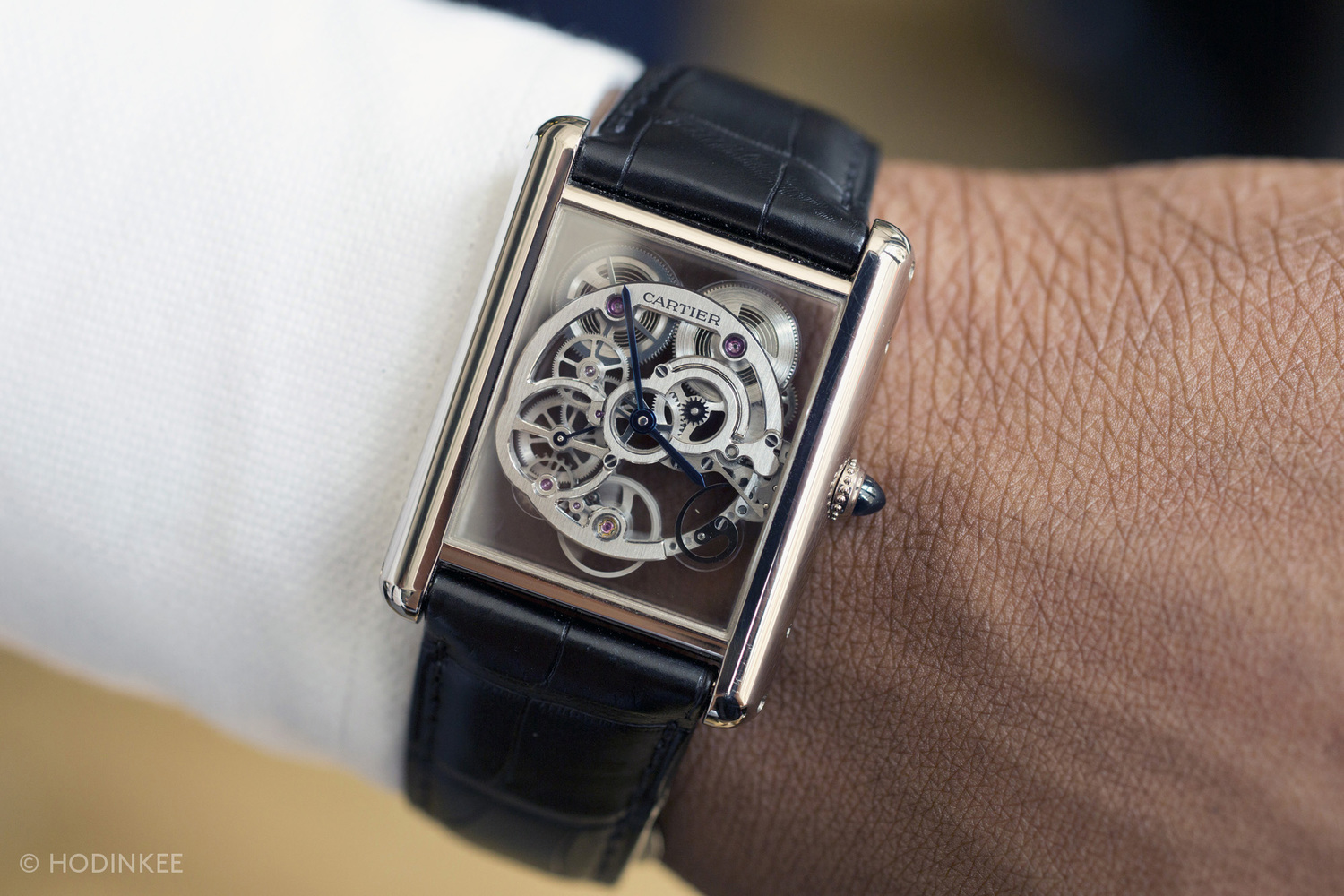 Hands On  With The Cartier Tank LC Sapphire Skeleton  A New Take On     There s the brash   2 million  milled sapphire way to do things  and then  there s this  Unveiled earlier this year at SIHH  the Cartier Tank