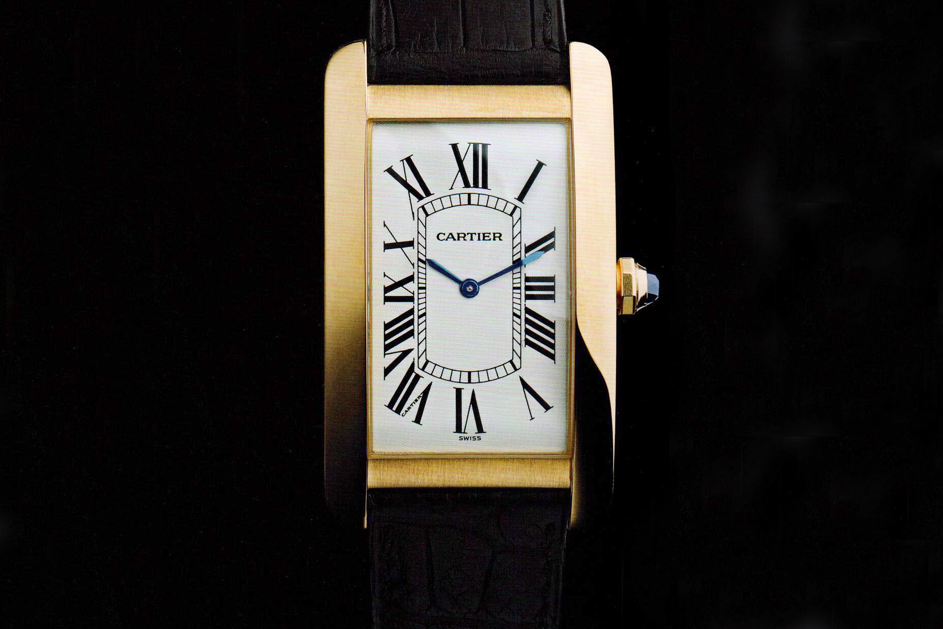 A Week On The Wrist  The Cartier Tank Am    ricaine In Steel From the front  the Am    ricaine looks a lot like a Cintr    e   Photo  Cartier  The Tank Watch by Franco Cologni