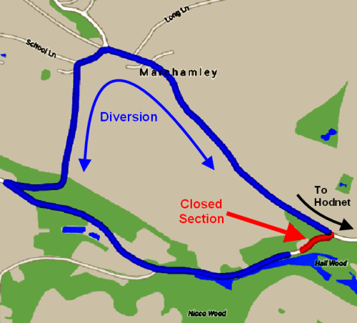 150824 Marchamley Diversion Map