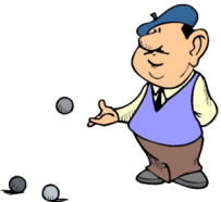 French Boules Player