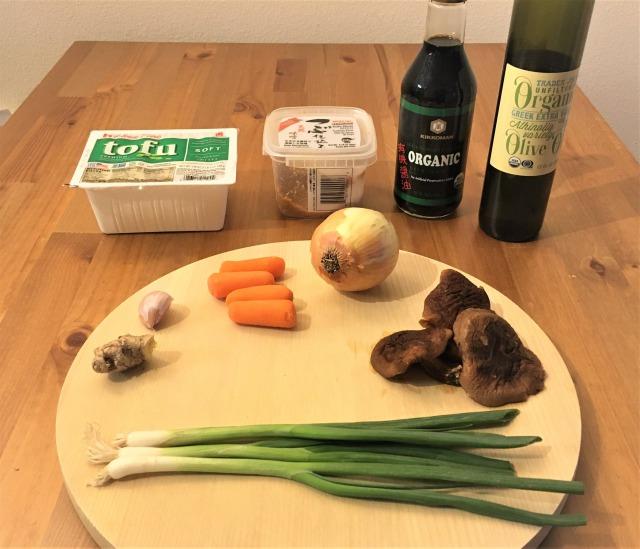 ベジタリアン麻婆豆腐の材料