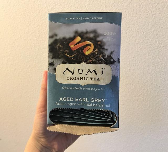 Numi Tea, オーガニック ティー、熟成アールグレイ、ティーバッグ18個