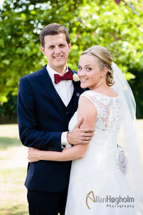 Stephanie og Lasses bryllup i Hjortshøj Kirke, 2014