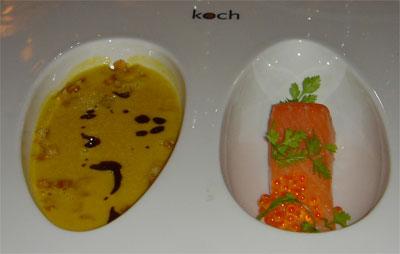 Gulerodssuppe med grillet laks, spidskommen og kørvel