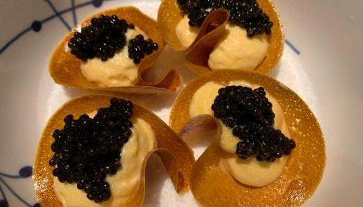 Butternut squash appetizer med kaviar