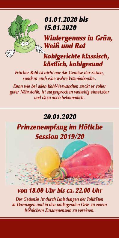 Wintergenuss / Kohlgerichte