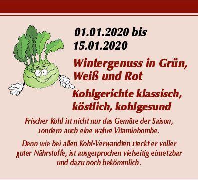 Wintergenuss in Grün, Weiß und Rot