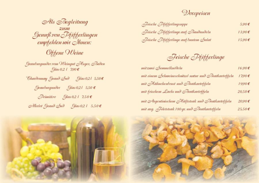 Wein und Pfifferlingskarte 2020