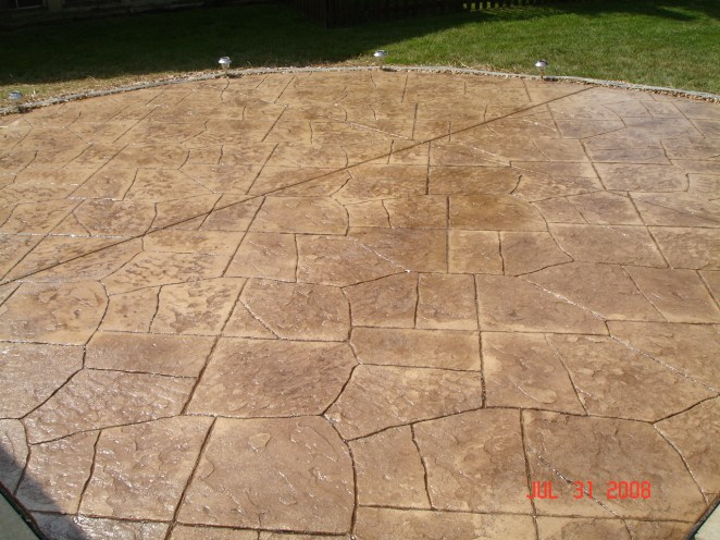 Decorative Brown Stamped Concrete