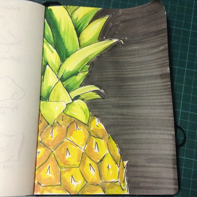 365 days of doodles, pineapple/Ananas