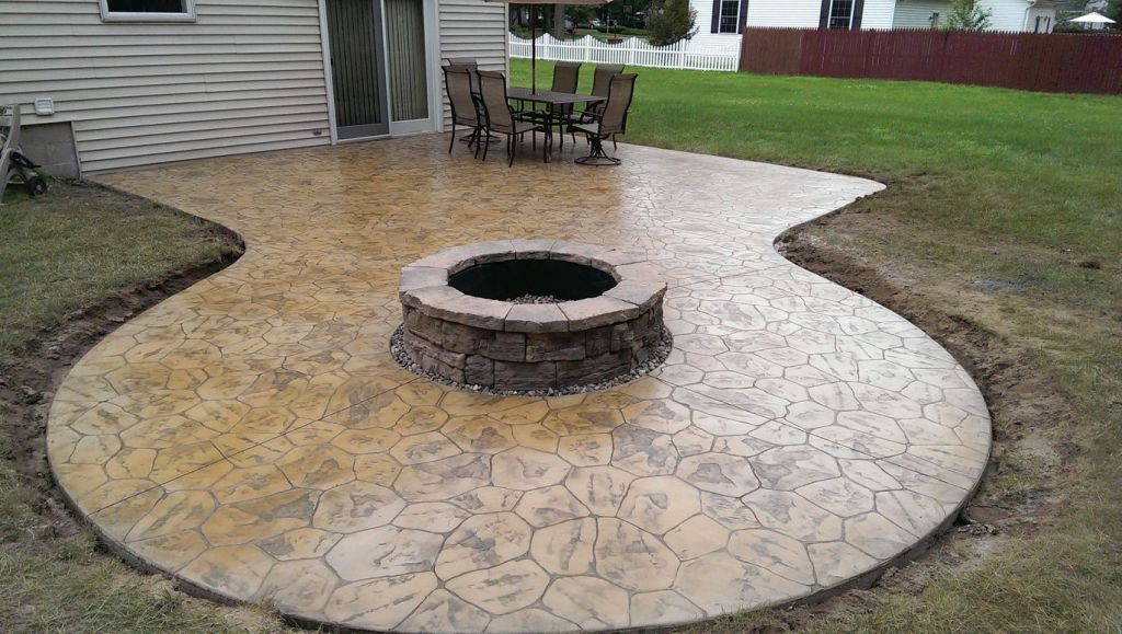 hoffman stamped concrete patio