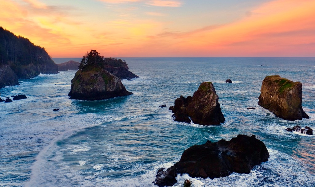 Arch Rock Lookout inside the Samuel H. Boardman Scenic Byway is one of the best views on the Oregon Coast.