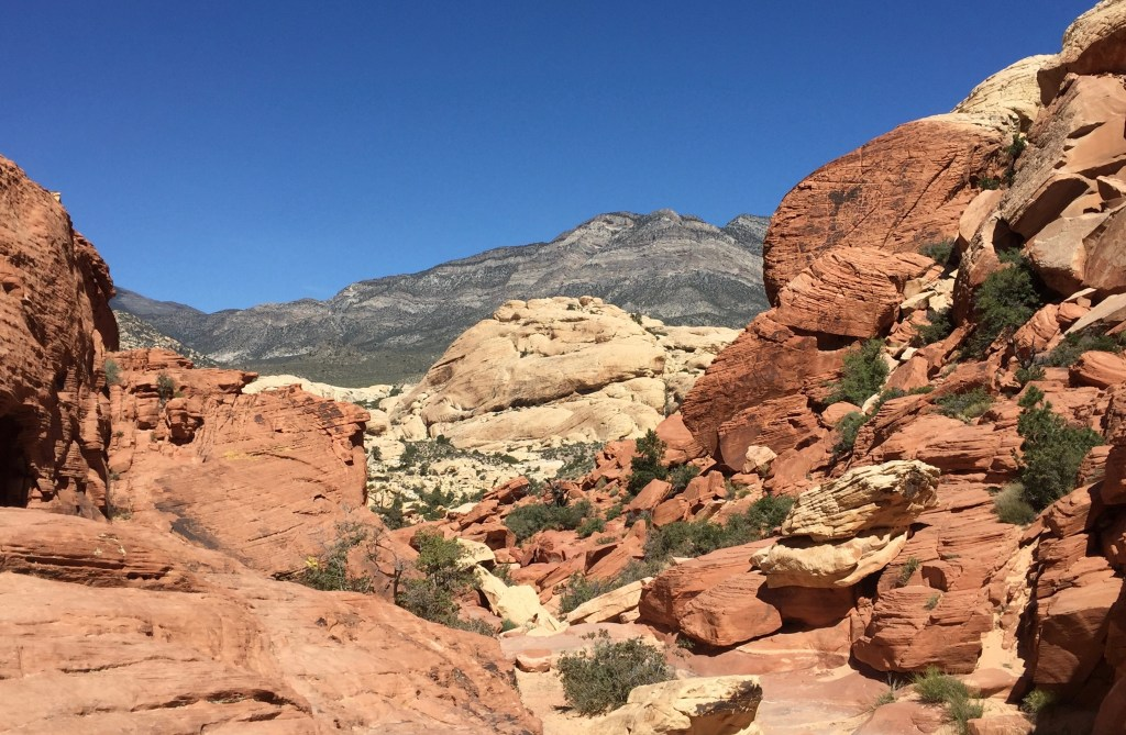 Red Rock Canyon has some spectacular hiking just outside Las Vegas.