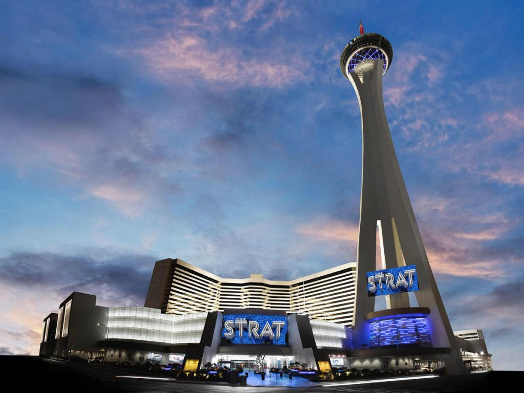 The STRAT hotel and casino has some fun rides at the top.