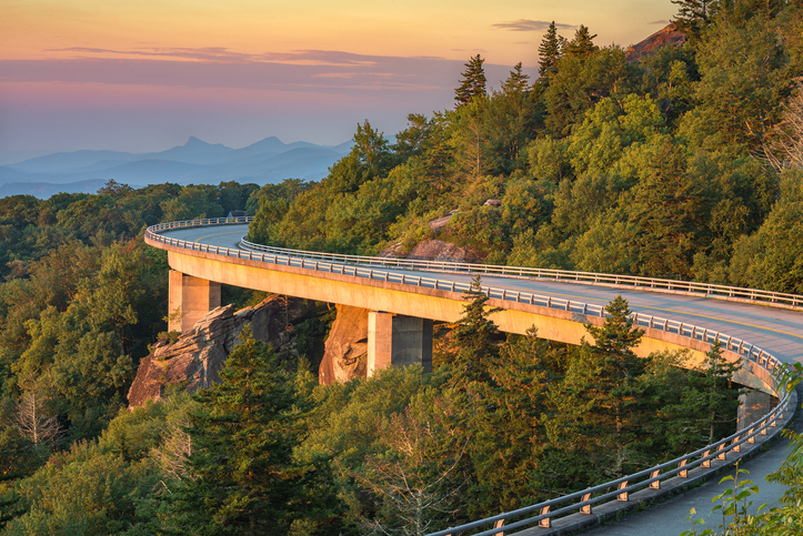 The Blue Ridge Parkway is one of the top things to see in North Carolina.