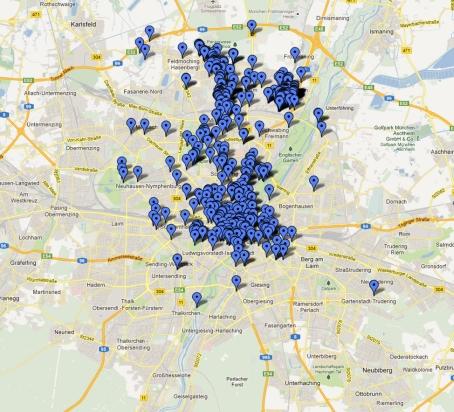 Foursquare Check-Ins München 2012