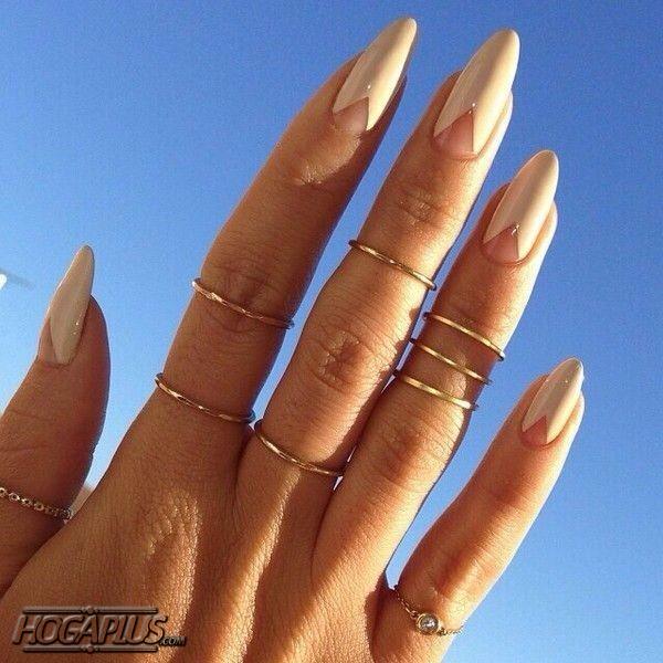 Triangle shape Nail design Ideas