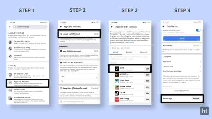 Manage the logged in with Facebook