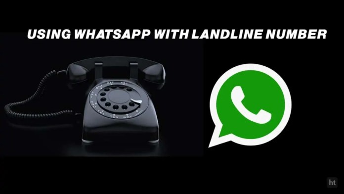 Use WhatsApp using landline